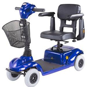 Four Wheel Mini Scooter, Blue