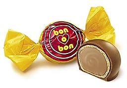 Arcor Bon O Bon Peanut Cream and Wafer Filled Milk Chocolate Bonbons Kosher-dairy (Pack of 60)