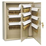 Single Tag Key Cabinet, 240 Keys, Steel, Sand, 16 1/2 x 4 7/8 x 20 1/8, Sold as 1 Each