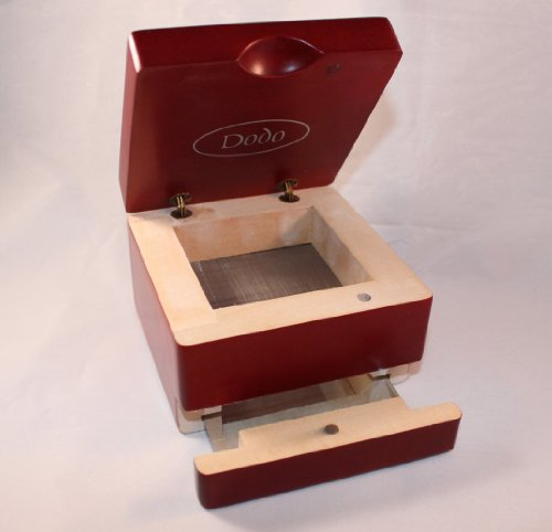 Tough Cherry Wood Pollen Box 4 X 4 X 3 With Magnetic Mirror Tray