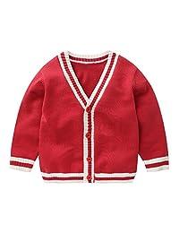 Mud Kingdom Cute Little Boys Cardigan Sweater V-Neck Casual