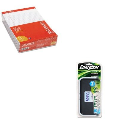 KITEVECHFCUNV20630 - Value Kit - Energizer Family Battery Charger (EVECHFC) and Universal Perforated Edge Writing Pad (UNV20630)
