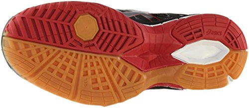ASICS Women's Gel Tactic Volleyball Shoe, Black/Black/Fiery Red, 8.5 M US by ASICS (Image #6)