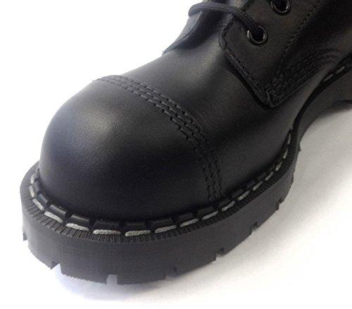 Smerigliatrici Laceup Derby Stivali Nuova Uomini Degli Uniformi Pelle Delle Donne Di Stag Combattimento Di Nera Cs nwxq0Anta