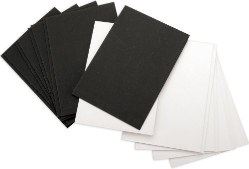 Die Cuts With a View Chipboard Mat Stack-Black/White