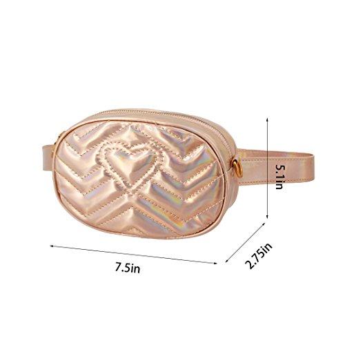 PU Bag Candice 680 Shoulder Women Leather Pack Bum Bag Champagne Purse Handbag Bag Bag Waist Waist Fanny Crossbody Pack 50wW01nUx