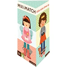 Petit Collage LITTLE MISS DRESS UP Mix and Match  Card Puzzle Game for kids 3 and up