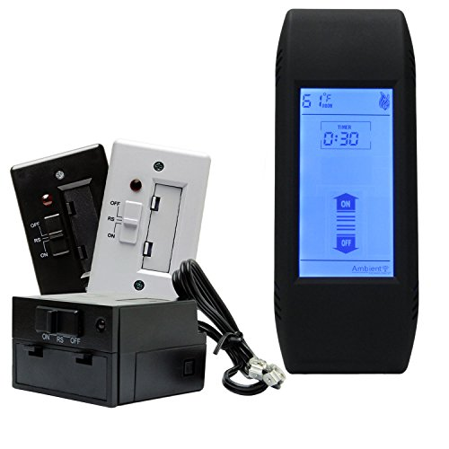 Ambient TSMT On/Off Timer Fireplace Remote Control with Backlit LCD (Ambient Technologies Handheld Remote Control)