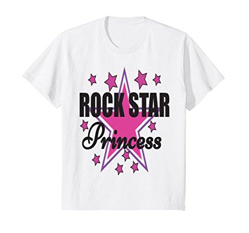 Kids Cute Rock Star Princess T-shirt 4 (Rock Star Toddler Tee)