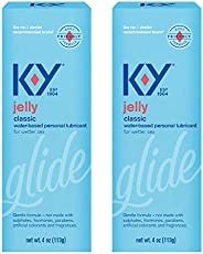 K-Y Jelly Premium Water Based Lube- Personal Lubricant Safe to Use with Latex Condoms, Devices, Sex Toys and V