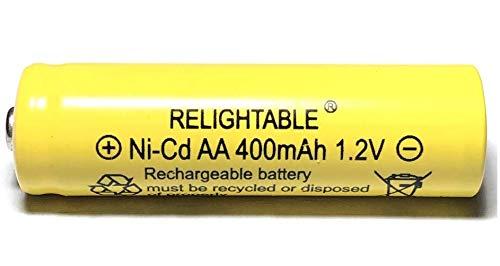 - RELIGHTABLE 400mAh AA NiCd 1.2v Rechargeable Batteries Garden Solar Ni-Cd Light LED F (Pack of 12)