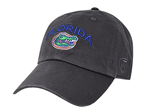 Top of the World Men's Adjustable Relaxed Fit Charcoal Arch hat, Florida Gators
