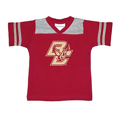 NCAA Boston College Eagles Toddler Boys Football Shirt, Crimson, 4