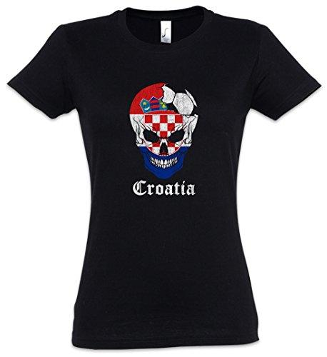 2xl Mujer Women – Football shirt Tamaños Backwoods Croatia Xs I Skull Girlie Urban T O01X7w