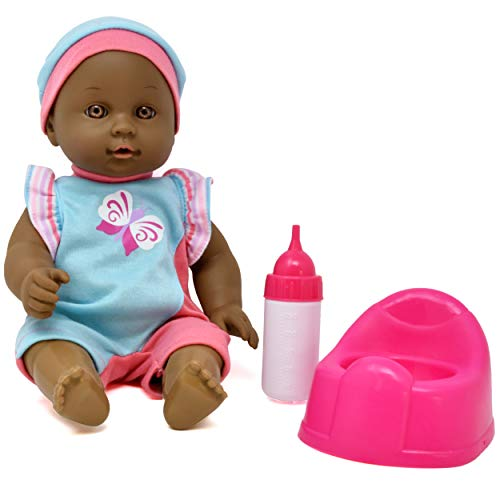 Drink and Wet Baby Doll, with Training Potty, Bottle, Bib