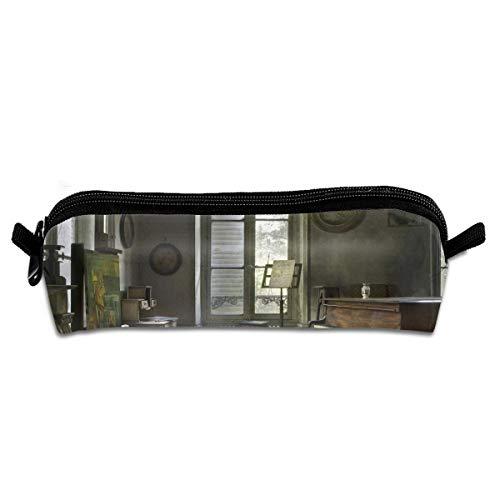 EWFBVa Durable Zipper Stationery Bag Room Interior Piano Musical Instrument Big Capacity Pencil Case