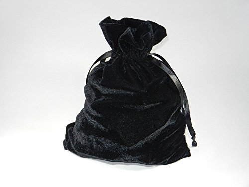 Golden Knight Brands Tarot Rune Bag: Black Luxury Velvet Drawstring 6