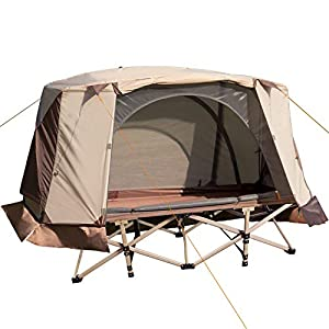 REDCAMP Ultra Lightweight Backpacking Cot for Tent, Upgraded Sturdy Compact Folding Portable XL Adults Cots for Sleeping…