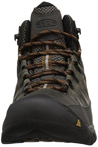 Keen Herren Targhee III Mid WP Trekking-& Wanderstiefel Schwarz (Black Olive/Golden Brown 0)