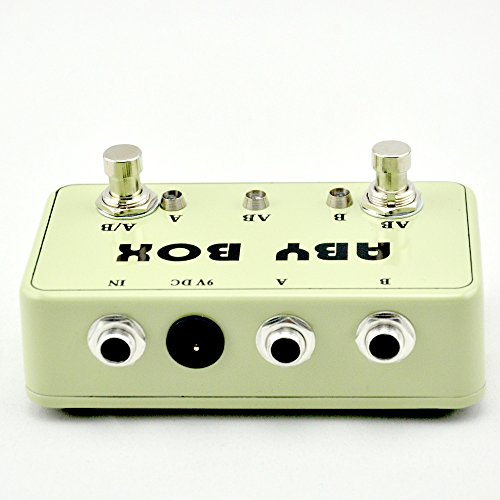NEW Guitar ABY Switcher Effect Stomp Pedal Box for Electric Guitar True Bypass Yellow (Aby Guitar Pedal)