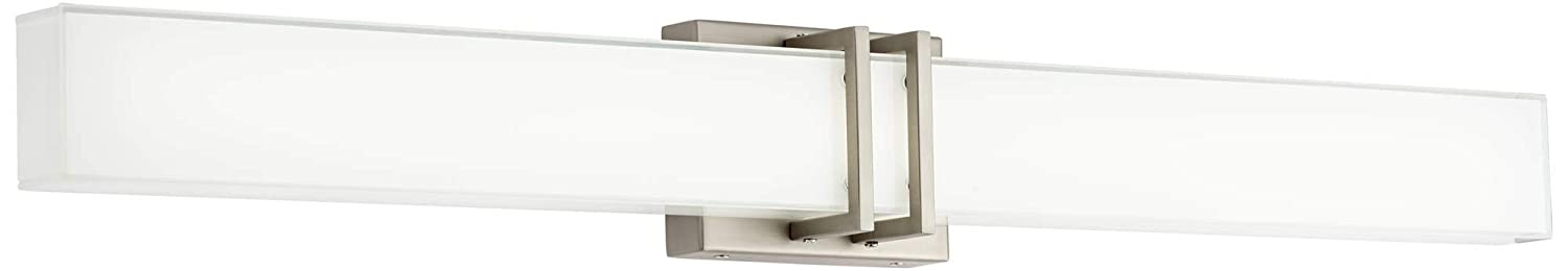 Exeter Modern Wall Light LED Brushed Nickel 36 Vanity Fixture for Bathroom Over Mirror – Possini Euro Design