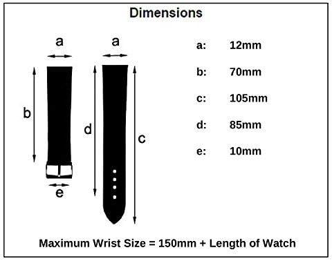 Comfortabele Flexibele Leather Horlogeband Band Buffalo Grain 12mm Breedte Zwart met Gilt Buckle R613g Bonheur Jg5oyrpD
