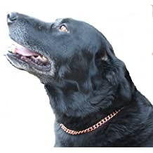 Copper Magnetic Therapy Dog Collars Made to Measure in Solid Copper with Magnets (18 inches)