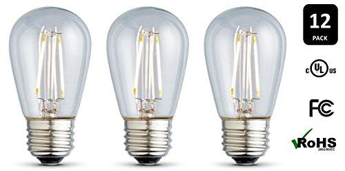 12-Pack ARCHIPELAGO LED Filament S14 Light Bulb, Clear Glass, 2.0 Watt, Medium Base (E26), 2400K (Soft White), Omnidirectional, UL Listed Review