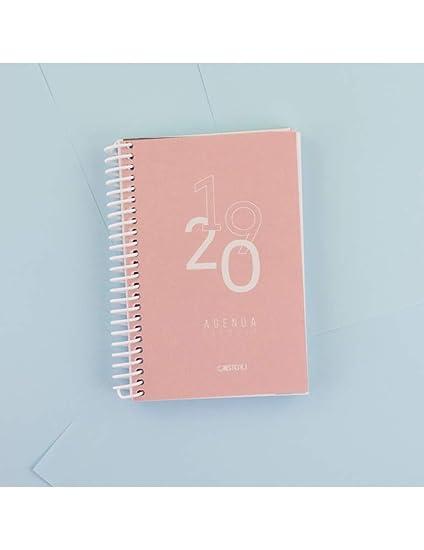 Casterli - Agenda Escolar 2019-2020 Basic Edition - Día Página, Tamaño A6 (Rosa)