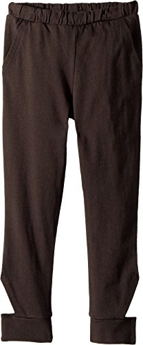 Chaser Kids Baby Girl's Jersey Vented Slouchy Pants (Toddler/Little Kids) Vintage Black (Capri Low Rise Jersey)