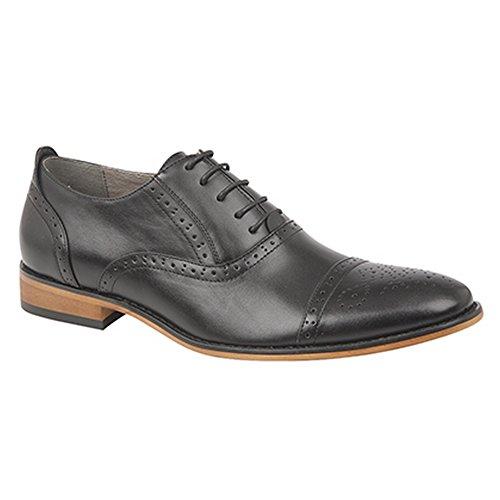 Goor Zapatos De Cordones Oxford Para Hombres, Con Cordones, Gris