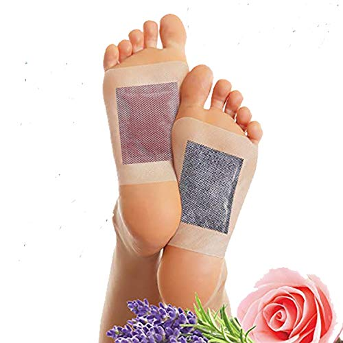 Cleansing Foot Pads (Pack of 20) by RoCaFutures: 2 in 1 Foot Pads | Lavender & Rose Scented | All Natural & Premium Ingredients | Promotes Sleep, Body Odor Reducer, Stress & Pain Relief from RoCaFutures LLC