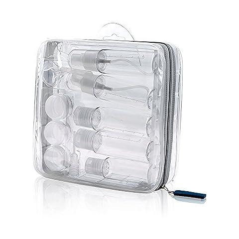 Hotrose 12 Pieces Travel Bottle Set - Lightweight Hygiene Essentials - Cosmetic Container Set for (Travel Set)