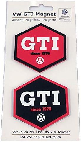 Brisa Vw Collection Volkswagen Golf Gti Rubber Magnet 2er Set Rot Schwarz Auto Zubehör Accessories Original Küche Haushalt