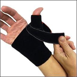 Thermoskin Cross-X CMC Thumb Splint, Right, Medium, Black, 5 Ounce
