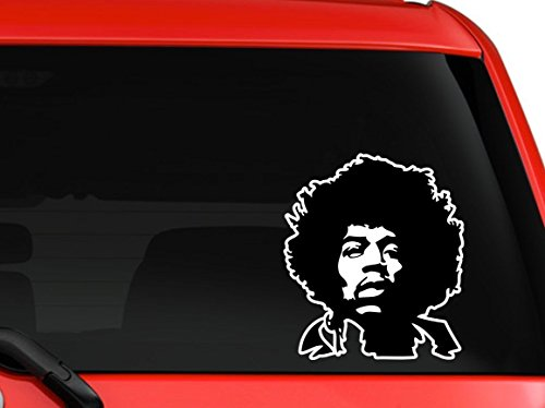 LA DECAL Jimi Jimmy Hendrix portrait Musician Legend Guitar player decal sticker 6