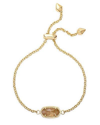Kendra Scott Elaina Adjustable Chain Bracelet In Citrine
