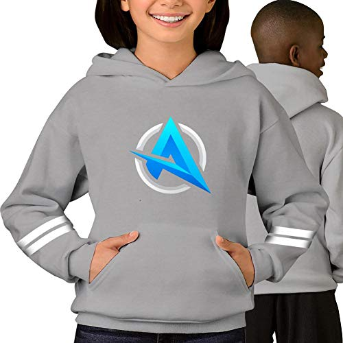 Ali_Logo_A Hoodies Sweatshirt Unisex Sweater Pullover for Boys and Girls ()