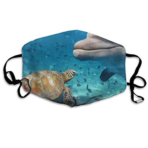 Pandering Great Mask Reusable Anti Dust Face Mouth Cover Dolphin and Turtle Mask Warm Windproof Anti Dust Face Mask,Reusable Warm Windproof Mouth Mask