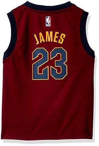 NBA Cleveland Cavaliers los niños los niños réplica jugador jersey-road, Medium (5-6), Borgoña