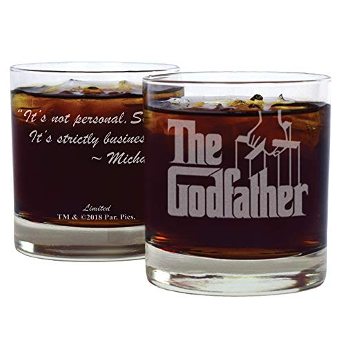 Movies on Glass - Premium Etched The Godfather Movie Logo with Quote,