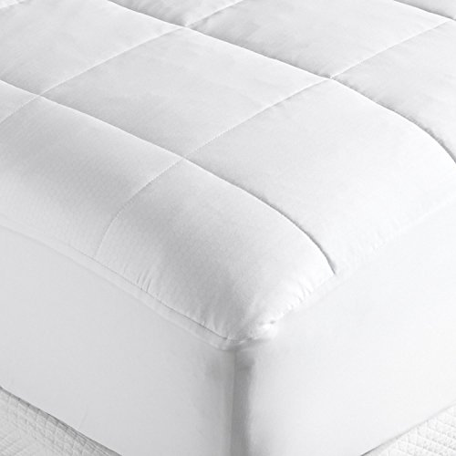 Design Weave Future Textiles Outlast All Season Temperature Regulating Hypoallergenic Pillowtop Mattress Pad - Reduces Night Sweats, 350 Thread Count, 100% Cotton, White, King (Memory Foam Mattress Too Hot At Night)