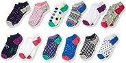 Amazon Brand - Spotted Zebra Girls Ankle Socks