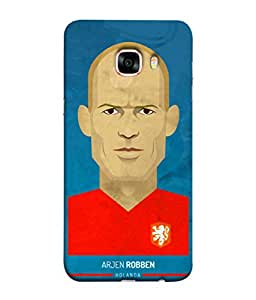 ColorKing Football Robben Holand 01 Blue shell case cover for Samsung C7