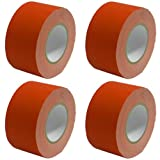 Seismic Audio - SeismicTape-Red603-4Pack - 4 Pack of 3 Inch Red Gaffer's Tape - 60 yards per Roll