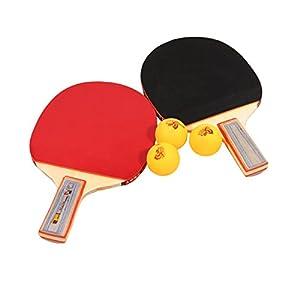 Tera® Tischtennis-Set 2x Schläger Table Tennis Racket Tischtennis-Schläger...