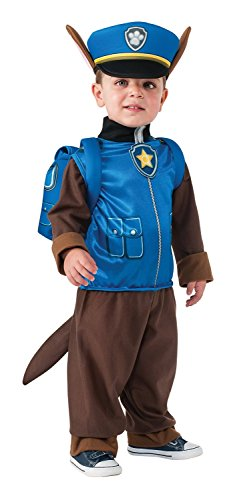 German Officer Fancy Dress Costume (Rubie's Costume Toddler PAW Patrol Chase Costume, X-Small Child Size)