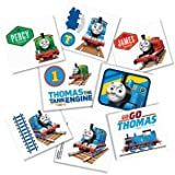 "Amscan Fun Thomas The Tank Temporary Tattoo Birthday Party Favors (16 Piece), 2 x 1-3/4"", Multi"