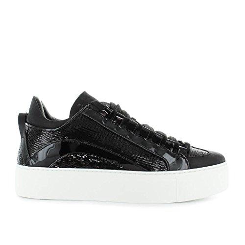 Sole Paillettes Noir Femme Baskets Chaussures 551 FW High Dsquared2 2019 RX1Yx