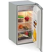 Klarstein Alleinversorger • Réfrigérateur • Frigo • Réfrigérateur à poser • Freezer • 90L • Hauteur 82 cm • Congélateur 7 litres • Classe A+ • Bac à légumes • Poids env.20 kg • Argent